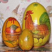 Подарки к праздникам ручной работы. Ярмарка Мастеров - ручная работа Яйцо пасхальное 2 в одном. Handmade.