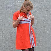 Одежда ручной работы. Ярмарка Мастеров - ручная работа Платье из трикотажа пике ГРАФИКА на красном. Handmade.