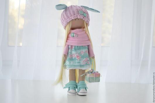 Куклы тыквоголовки ручной работы. Ярмарка Мастеров - ручная работа. Купить Интерьерная кукла. Handmade. Мятный, кукла текстильная, тыквоголовка