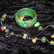 Украшения ручной работы. Ярмарка Мастеров - ручная работа Летний комплект. Handmade.