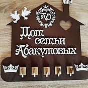Ключницы ручной работы. Ярмарка Мастеров - ручная работа Ключница с фамилией.. Handmade.