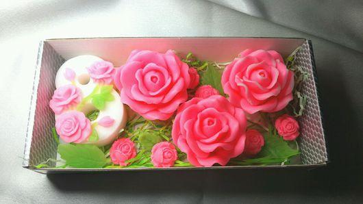 """Мыло ручной работы. Ярмарка Мастеров - ручная работа. Купить Мыло """" Нежные Розочки """". Handmade. Мыло роза"""