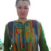 Одежда handmade. Livemaster - original item Tunic knitted. Precious placer. Mini dress. Handmade.