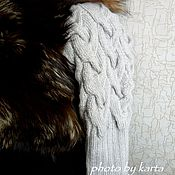 Одежда ручной работы. Ярмарка Мастеров - ручная работа Вязаные рукава с косами к жилету.. Handmade.