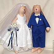 Куклы и игрушки ручной работы. Ярмарка Мастеров - ручная работа Тильда Свадебные зайки. Handmade.