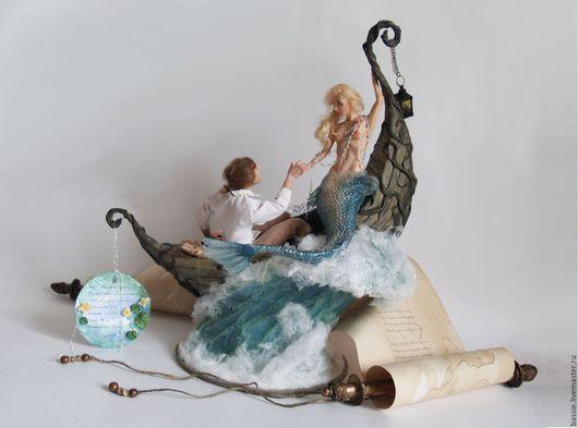 Коллекционные куклы ручной работы. Ярмарка Мастеров - ручная работа. Купить Русалка и неверный Эндрю. Handmade. Комбинированный, море