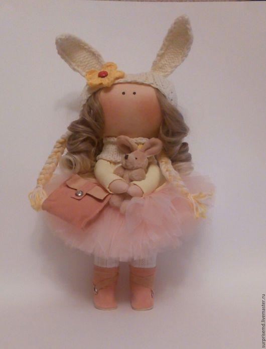 Коллекционные куклы ручной работы. Ярмарка Мастеров - ручная работа. Купить Интерьерная текстильная куколка зефирка. Handmade. Бежевый