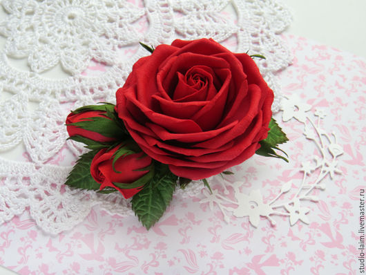 Заколка с цветами, украшение для волос, цветы в прическу, красивая заколка для волос купить, заколки с цветком из фоамирана, цветы ручной работы, заколка-цветок, мастер Любовь Амосова