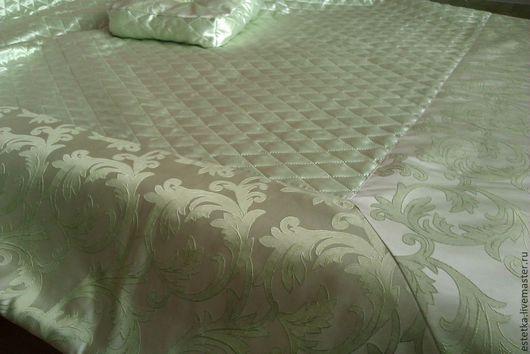 Текстиль, ковры ручной работы. Ярмарка Мастеров - ручная работа. Купить Покрывало на 2хспальную кровать. Handmade. Салатовый, покрывало, ТЕРМОСТЁЖКА