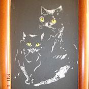 """Картины и панно ручной работы. Ярмарка Мастеров - ручная работа картина """"кошки"""". Handmade."""