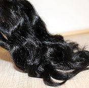 Материалы для творчества handmade. Livemaster - original item Hair for dolls (black) Curls Curls for dolls. Handmade.