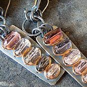 Украшения ручной работы. Ярмарка Мастеров - ручная работа CITY серьги (турмалины, золото, серебро). Handmade.