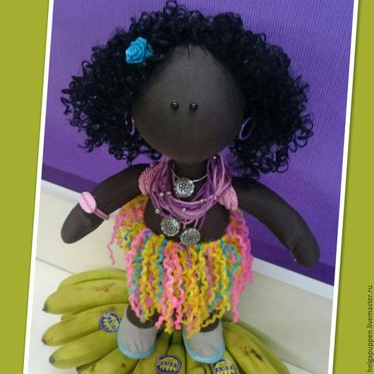 Куклы тыквоголовки ручной работы. Ярмарка Мастеров - ручная работа. Купить Кукла Даяна (8). Handmade. Черный, кукла Тильда