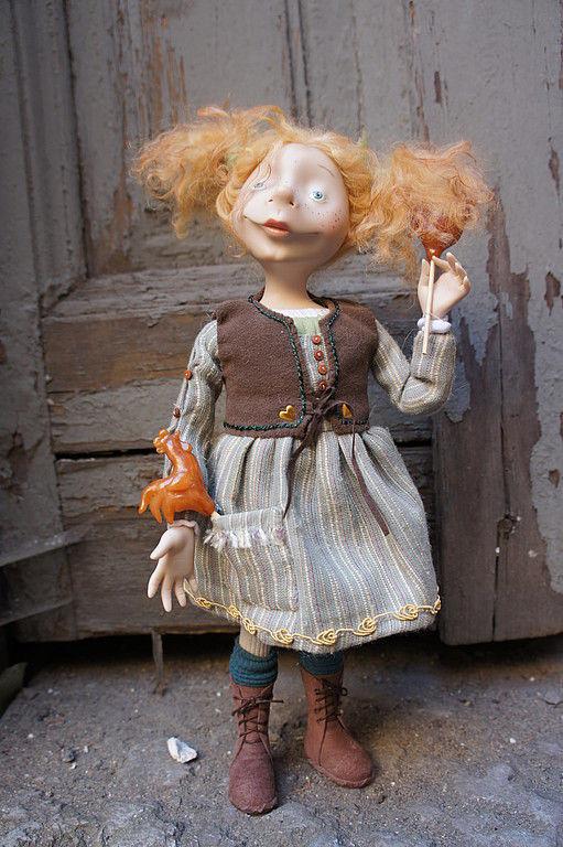 Коллекционные куклы ручной работы. Ярмарка Мастеров - ручная работа. Купить дунькина радость. Handmade. Авторская кукла