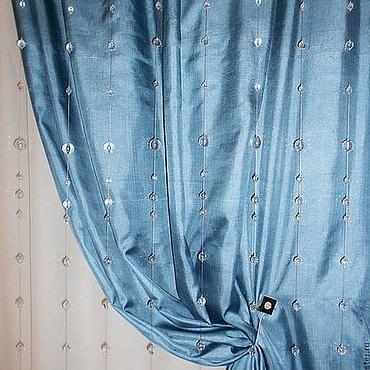 Для дома и интерьера ручной работы. Ярмарка Мастеров - ручная работа Шторы из стеклянных бусин. Handmade.
