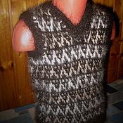 Vests handmade. Livemaster - original item Children`s knitted vest Double. Handmade.