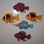 Сувениры и подарки ручной работы. Ярмарка Мастеров - ручная работа Коллекция рыб-магнитов. Handmade.