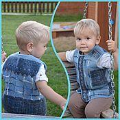Одежда ручной работы. Ярмарка Мастеров - ручная работа Жилет 2-х сторонний валяный для мальчика. Handmade.