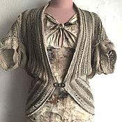 Одежда ручной работы. Ярмарка Мастеров - ручная работа льняной жакет-трансформер. Handmade.