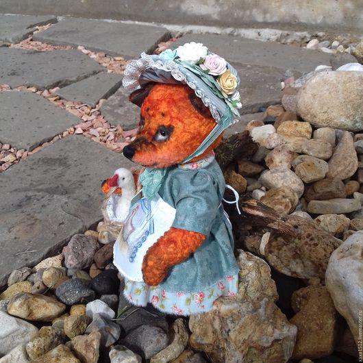 Мишки Тедди ручной работы. Ярмарка Мастеров - ручная работа. Купить тедди-лиса Пелагея (друзья тедди). Handmade. Рыжий