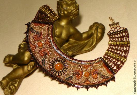 """Колье, бусы ручной работы. Ярмарка Мастеров - ручная работа. Купить Колье вышитое бисером """"Oro di Scythian"""". Handmade."""