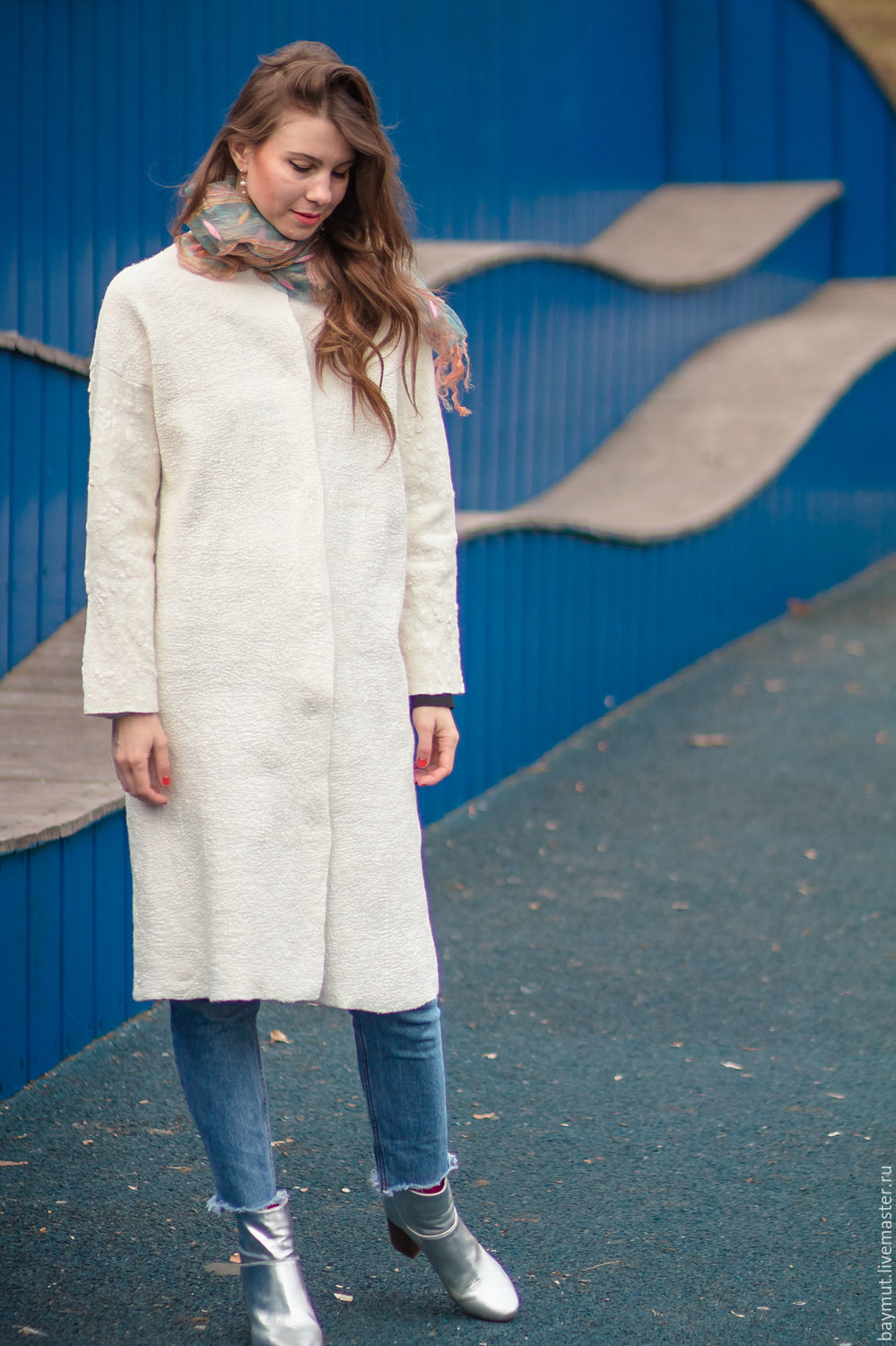 Felted coat white flax shop online on livemaster with for Outer cloth