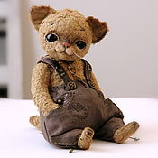 Куклы и игрушки ручной работы. Ярмарка Мастеров - ручная работа котик Крис. Handmade.