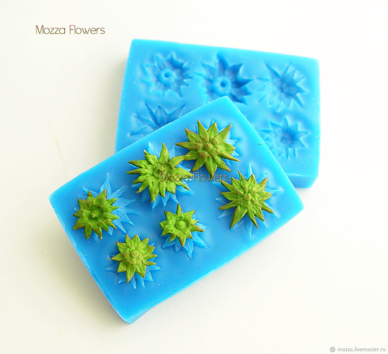 'The sepals of strawberry' silicone mold, Molds for making flowers, Zarechny,  Фото №1