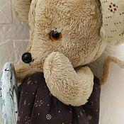 Тедди Зверята ручной работы. Ярмарка Мастеров - ручная работа Тедди Зверята: Мышка Малышка!. Handmade.