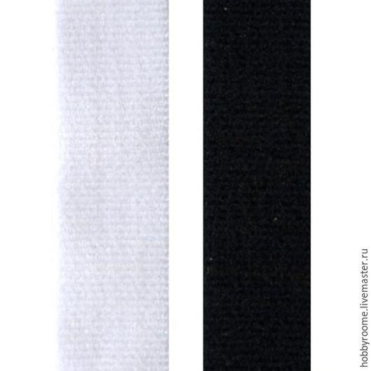 Шитье ручной работы. Ярмарка Мастеров - ручная работа. Купить Лента эластичная для бретелей, ширина 10 мм.. Handmade. Белый