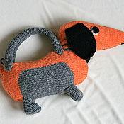 Работы для детей, ручной работы. Ярмарка Мастеров - ручная работа сумочка-такса. Handmade.