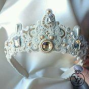 Свадебный салон handmade. Livemaster - original item Crown Bridal soutache and rhinestone
