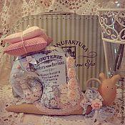 Куклы и игрушки ручной работы. Ярмарка Мастеров - ручная работа Улитка Тильда. В стиле Шебби. Handmade.