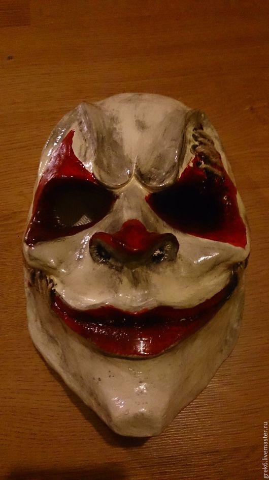 """Карнавальные костюмы ручной работы. Ярмарка Мастеров - ручная работа. Купить Маска из пластика """"Клоун"""". Handmade. Серый, пластик, Лепка"""