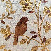 Картины и панно ручной работы. Ярмарка Мастеров - ручная работа Птица счастья, золотой сад , мозаика. Handmade.