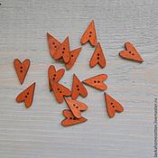 Материалы для творчества ручной работы. Ярмарка Мастеров - ручная работа Пуговица деревянная Сердце Тильды неокрашенное, 259. Handmade.