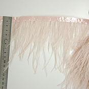 handmade. Livemaster - original item Trim of ostrich feathers 10-15 cm light powder. Handmade.