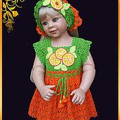 """Платья ручной работы. Ярмарка Мастеров - ручная работа Платье""""Апельсинчик"""". Handmade."""