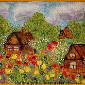"""Картины и панно ручной работы. Ярмарка Мастеров - ручная работа Валяная картина """"Цветочная радуга весны"""". Handmade."""