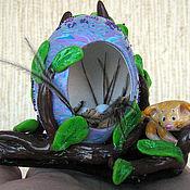 """Для дома и интерьера ручной работы. Ярмарка Мастеров - ручная работа Яйцо - гнёздышко """"Котёнок"""". Handmade."""