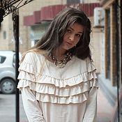 Одежда handmade. Livemaster - original item Autumn-winter dress made of artificial suede in the style of boho Olivia.. Handmade.