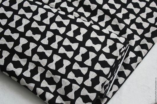 Шитье ручной работы. Ярмарка Мастеров - ручная работа. Купить Ткань хлопок Бабочки 4 см (на черном фоне). Handmade.
