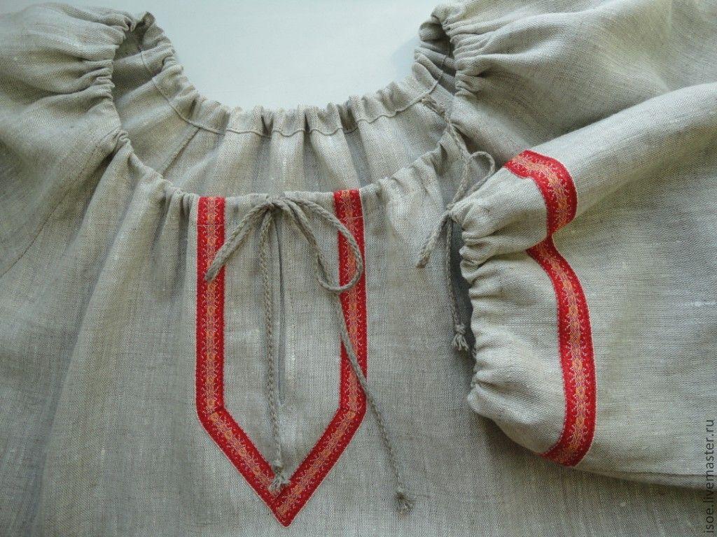 Выкройка и пошив мужской и женской традиционной славянской