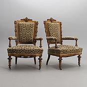 Кресла ручной работы. Ярмарка Мастеров - ручная работа Антикварные парные кресла, 19 век. Handmade.