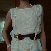 Одежда ручной работы. Ярмарка Мастеров - ручная работа топ белый. Handmade.