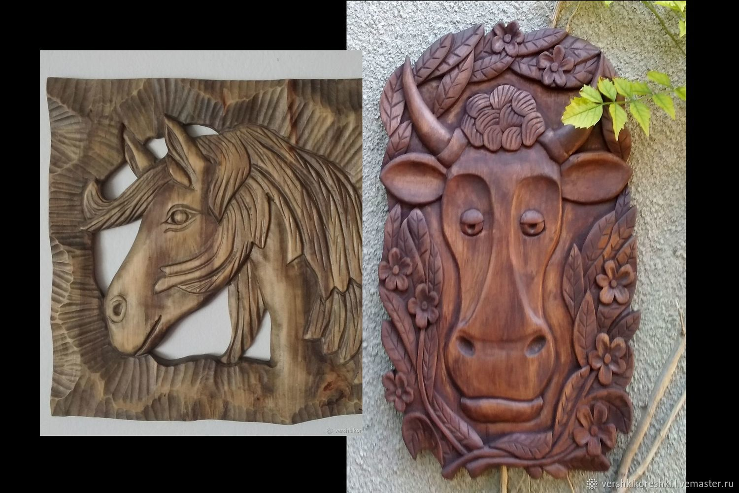 The picture the Horse and the Cow, Panels, Chernomorskoe,  Фото №1