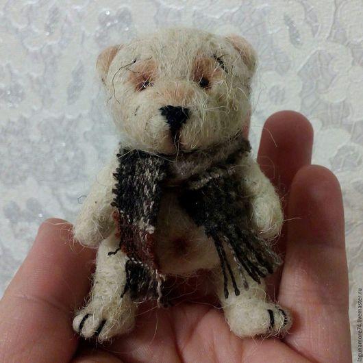 Миниатюра ручной работы. Ярмарка Мастеров - ручная работа. Купить Медведятки. Handmade. Бежевый, мини мишки, игровая игрушка, подарок