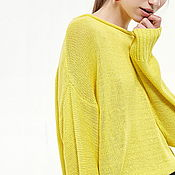 """Одежда ручной работы. Ярмарка Мастеров - ручная работа Свитер желтый """"Лимон"""". Желтый свитер. Желтый свитер. Желтый свитер. Handmade."""