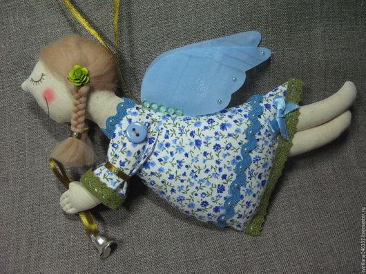 Сказочные персонажи ручной работы. Ярмарка Мастеров - ручная работа. Купить Ангел с голубыми крылышками. Handmade. Голубой, спящий ангел