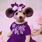 Куклы и игрушки handmade. Livemaster - original item Mouse Teddy. Handmade.